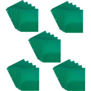 Storex Tear Resistant Two-pocket Folder /Green (25 units/pack)