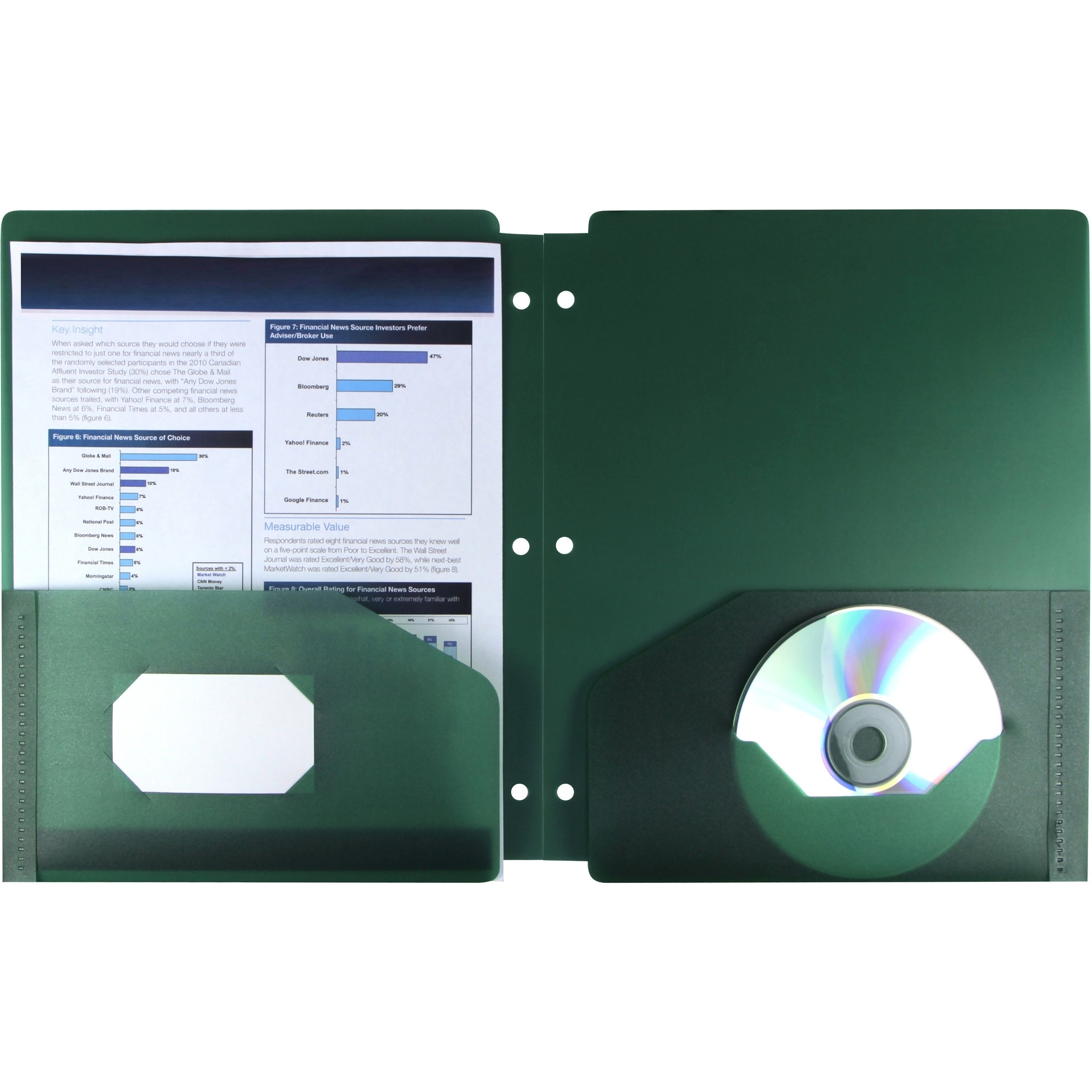 Storex Green Poly Thicker Two-pocket Folder (Pack of 25) ...