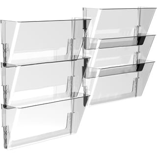 Storex Clear Letter Wall File (Pack of 6)