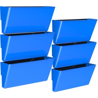 Storex Magnetic Wall Pocket / Legal sized /Class Blue (6 units/pack)