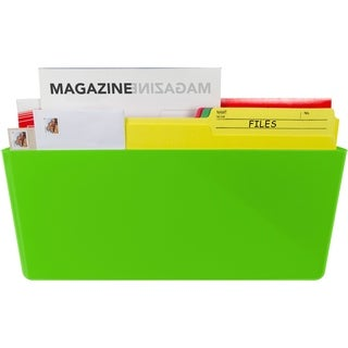 Green Legal-sized Magnetic Wall Pocket (Pack of 6)