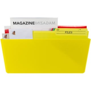 Storex Class Yellow Legal-size Magnetic Wall Pocket 6-pack