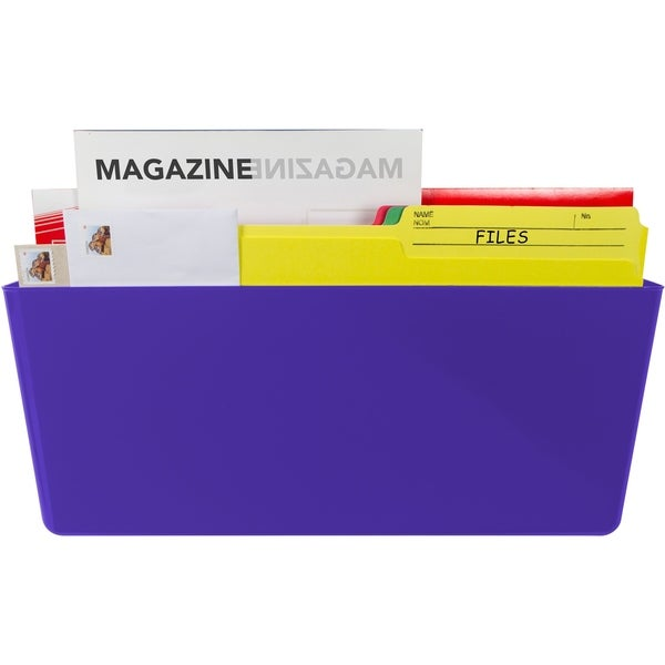 Storex Magnetic Wall Pocket/ Legal size / Class Purple (6 units/pack)