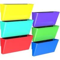 Storex Magnetic Wall Pockets/ Legal size / Multicolor (6 units/pack)