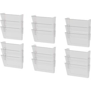 Storex Clear Plastic Legal 3-pack Wall Files (Pack of 6 Packs)