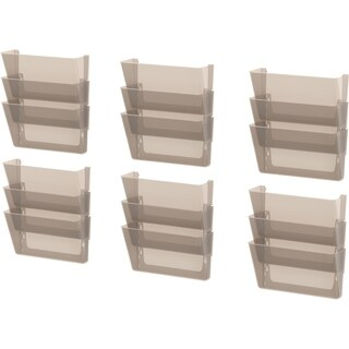 Storex Smoke Legal-sized Wall Files (Pack of 6 Sets, Set of 3)