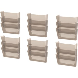 Storex Wall Files,Legal-sized,Smoke ( Set of 3/pack of 6 sets)