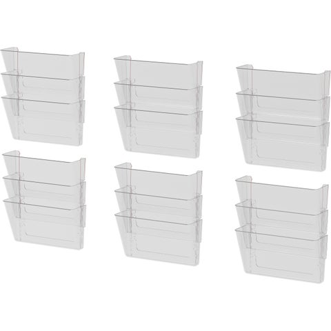 Storex Wall File Pockets/ Clear (6 units/pack)