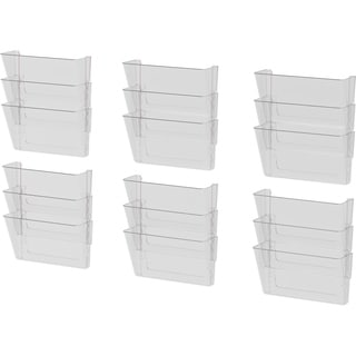 Storex Clear Plastic Wall File Pockets (Pack Of 6)