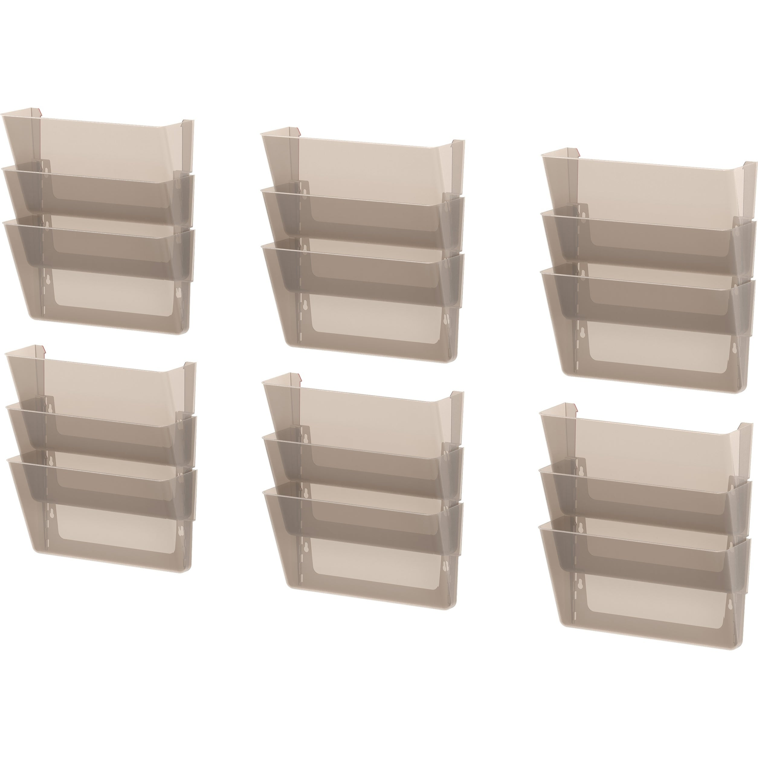 Storex Unbreakable Smoke 3-pack Letter Wall Files (Pack o...