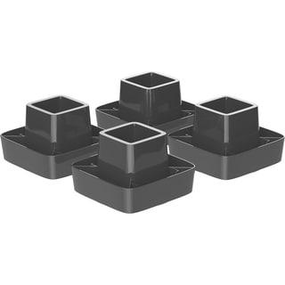 Storex Black Modern Gloss Spinning Organizer (Pack of 4)