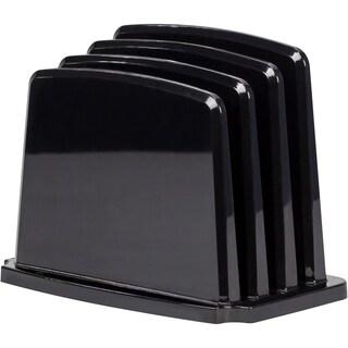 Black Modern Gloss Vertical Sorter (Pack of 4)