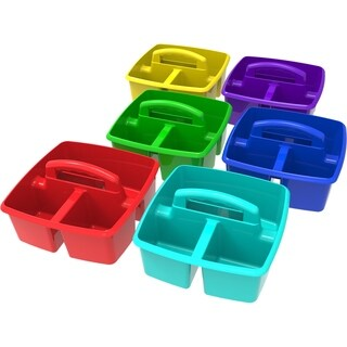 Assorted Colors Plastic Classroom Caddie (6 units/pack)