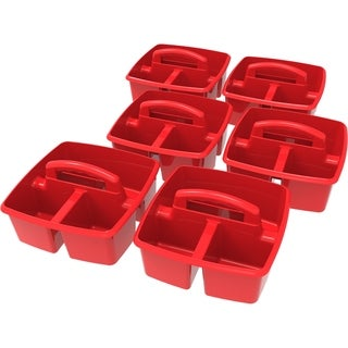Storex Red Classroom Caddy (6 units/pack)