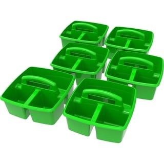 Green Plastic Small Caddy (Pack of 6)