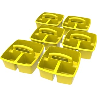 Storex Yellow Small Caddy (Pack of 6)