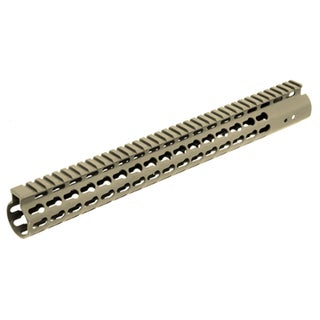 "Leapers Inc. AR15 Super Slim Free Float Handguard Keymod, 15"", Flat Dark Earth"