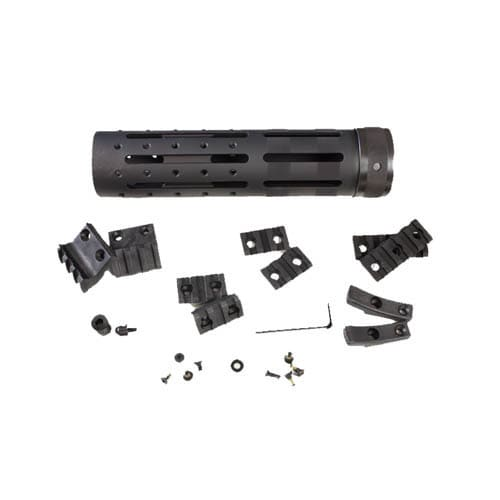 """Hogue AR15 Knurled Aluminum 3 Gun Free Floating Forend Extension 8"""" Overall Length w/Accessories"""