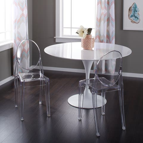 Silver Orchid de Bray Modern Clear Dining Chair