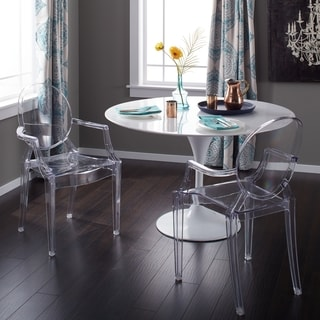 buy clear kitchen dining room chairs online at overstock com our rh overstock com clear kitchen table cover clear kitchen table protector