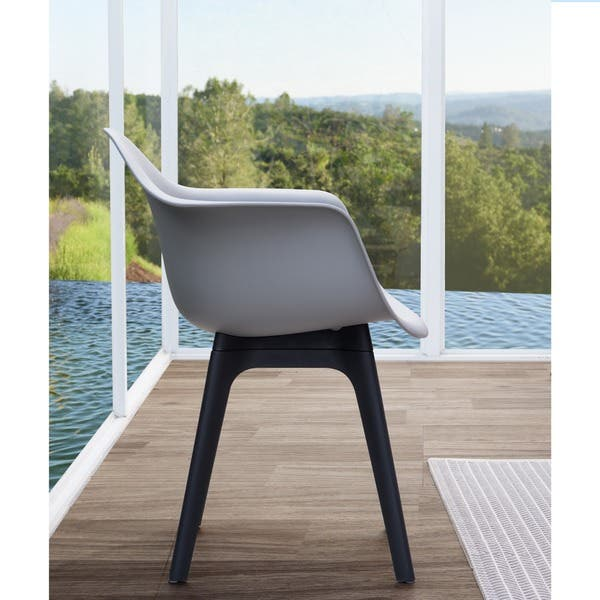 Lyle Grey Dining Chair By Corvus Set Of 2 On Sale Overstock 14034473