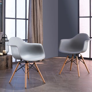 Siena Modern Dining Chairs with Wood Legs by Corvus (Set of 2) (2 options available)