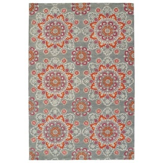 Hand-Tufted de Leon Grey Mosaic Rug (8' x 10')