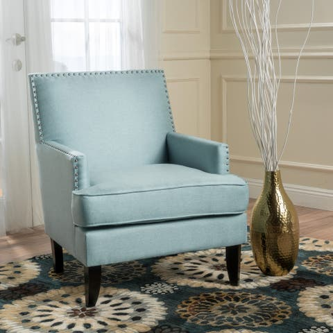 Tilla Studded Fabric Club Chair by Christopher Knight Home