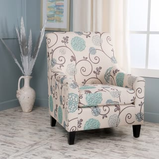 Guyon Floral Fabric Club Chair by Christopher Knight Home|https://ak1.ostkcdn.com/images/products/14034522/P20652477.jpg?impolicy=medium