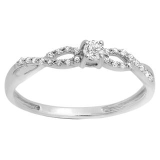 18k Gold 1/5ct TDW Round Diamond Bridal Ring (I-J, I2-I3)