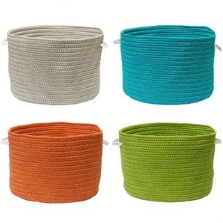 Kanter Simple-Solids Large Accent Handles Storage Basket