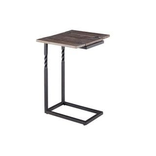 Progressive Brown Wood and Metal Lap Table
