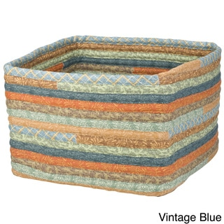 Cozy Country 16-inch x 16-inch x 11-inch Square Storage Basket