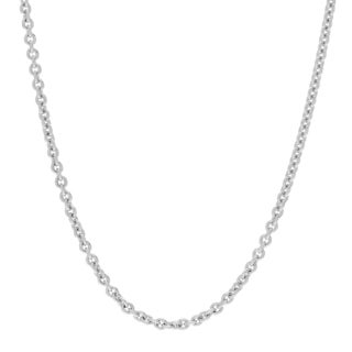 Journee Collection Sterling Silver Adjustable 20 Inch Cable Chain Necklace
