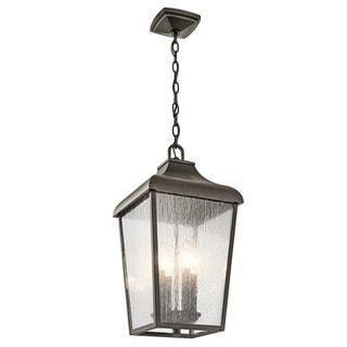 Kichler Lighting Forestdale Collection 4-light Olde Bronze Outdoor Pendant