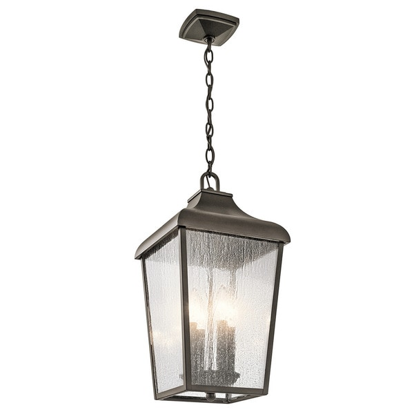Kichler Lighting Forestdale Collection 4 Light Olde Bronze Outdoor Pendant On Free Shipping Today 14035186
