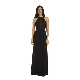 Nightway Women's 1224 Black Lace Gown