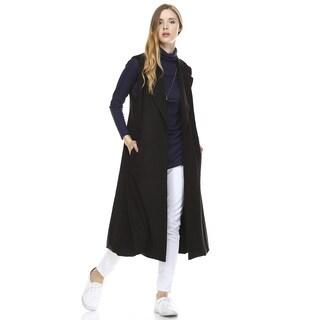 Women's Ura Black Suede Vest