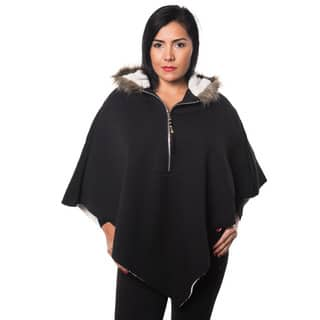 Special One Women's Faux Fur Lined Casual Loose Bat Sleeves Hooded Sweater|https://ak1.ostkcdn.com/images/products/14035461/P20653105.jpg?impolicy=medium