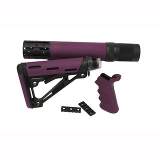 Hogue AR-15/M-16 Kit Finger Groove Beavertail Grip, Purple