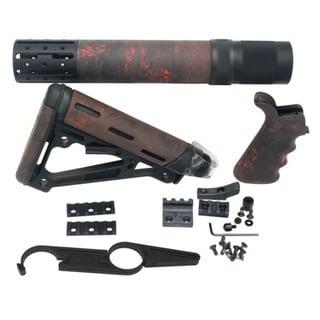 Hogue AR15 Kit BFG Grip Rifle Length Forend Acc OMC Red Lava