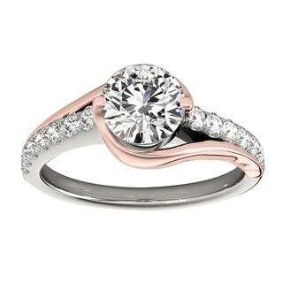 Transcendent Brilliance 14K Gold 1 1/4ct TDW Diamond Curved Engagement Ring