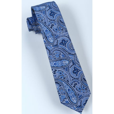 Brio Men's Blue/Light Blue Paisley Dress Tie