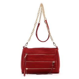 MKF Collection Arlene 3-zip Crossbody Handbag by Mia K. Farrow