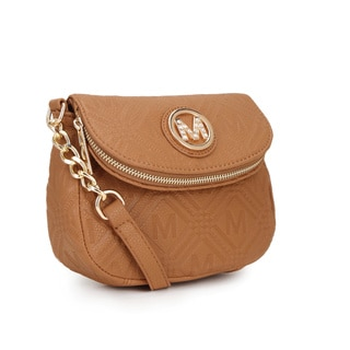 MKF Collection Madilyn Embossed 'M' Crossbody Handbag by Mia K. Farrow