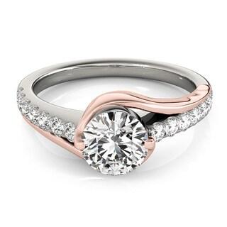 Transcendent Brilliance 14K Gold 1 1/2ct TDW Diamond Curved Engagement Ring