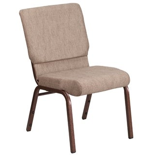 HERCULES Series 18.5 inches wide Fabric Stacking Church Chair with 4.25-inch Thick Seat