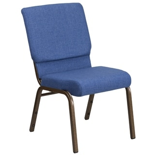 HERCULES Series 18.5 inches wide Fabric Church Chair with 4.25-inch Thick Seat, Communion Cup Book Rack - Vein Frame