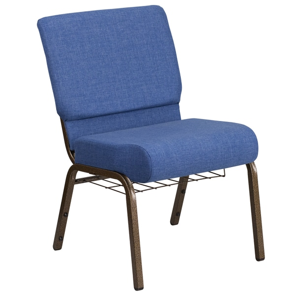 French cafe chair metal - Fabric Church Chair Free Shipping Today Overstock Com