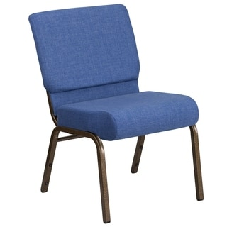 HERCULES Series 21 inches wide Extra WideFabric Stacking Church Chair with 4-inch Thick Seat - Vein Frame